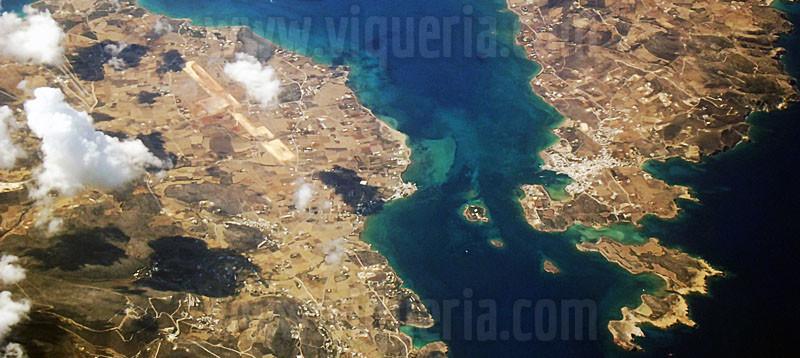 cicladi dall'alto (isole greche)