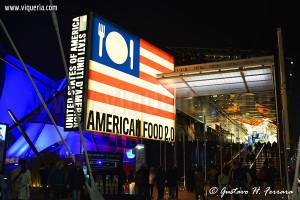 veduta esterna del padiglione degli Stati Uniti (Expo 2015)