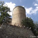 veduta del torrione dal lato sud - castello di Oramala