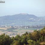 il castello di Montalto pavese visto dal torrione - castello di Oramala
