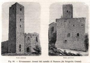 Il castello di Nazzano in un incisione del 1896