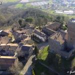 veduta aerea del castello di Nazzano - est