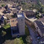 veduta aerea del castello di Nazzano - nord
