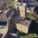 veduta aerea del castello di Nazzano - sudest