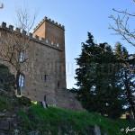 castello di Nazzano - veduta del lato est. In primo piano i resti della cinta esterna