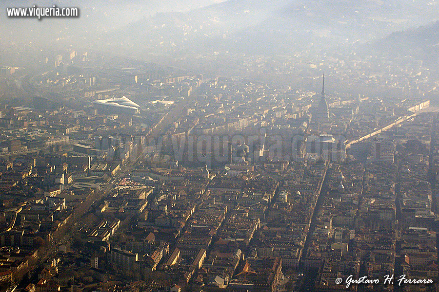 Torino vista dall'aereo