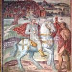 l'affresco di San Martino, con la veduta di Pavia