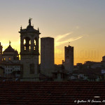 Un tramonto a Bergamo