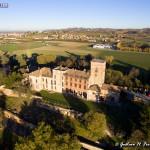 veduta del castello Beccaria da ovest