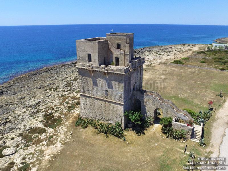 Torre Colimena, la torre vista dall'alto