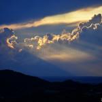 tempesta e luce sulla pianura padana