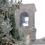 La neve e il campanile. Montebello della battaglia (PV)