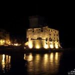 Il castello di Rapallo di notte