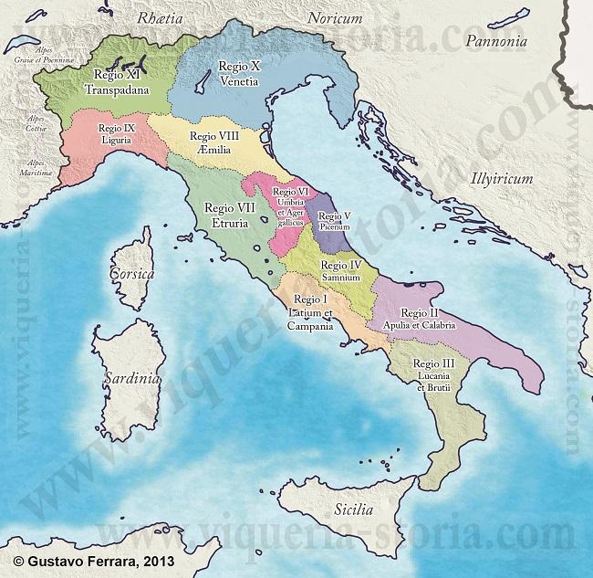 Le Regiones dell' Italia augustea