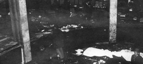 """La """"Rotonda"""" devastata dall'esplosione"""