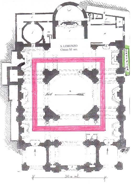 pianta chiesa antica