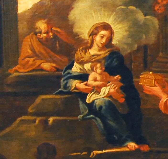 Particolare: la Sacra famiglia