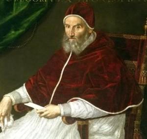 Gregorio XIII , ritratto di Lavinia Fontana