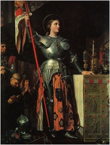 """Fig. 3, """"Giovanna D'Arco all' incoronazione di Carlo VII"""" di Jean-Auguste-Dominique Ingrés"""