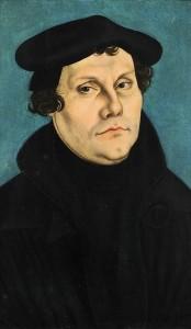 Martin Lutero, ritratto di Lucas Cranach, 1528