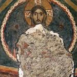 cripta di san giovanni domnarum : il cristo sulla volta e l'apertura praticata dal Gianani
