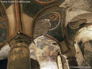 cripta di San Giovanni domnarum: le volte affrescate