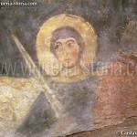 cripta di San Giovanni Domnarum : affresco sul pilastro nord, lato est