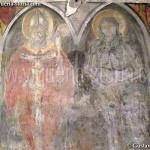 cripta di san giovanni domnarum : affreschi (gotici?) del pilastro sud, lato nord