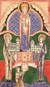 Roberto di Molesme, Alberico di Cîteaux e Stefano Harding rappresentati in una miniatura. [Fonte: wikipedia]