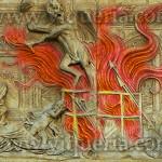 rogo libri falò della vanità. Bernardino da Siena organizza un falò delle vanità (1457-1461), Agostino di Duccio, Oratorio di San Bernardino, Perugia